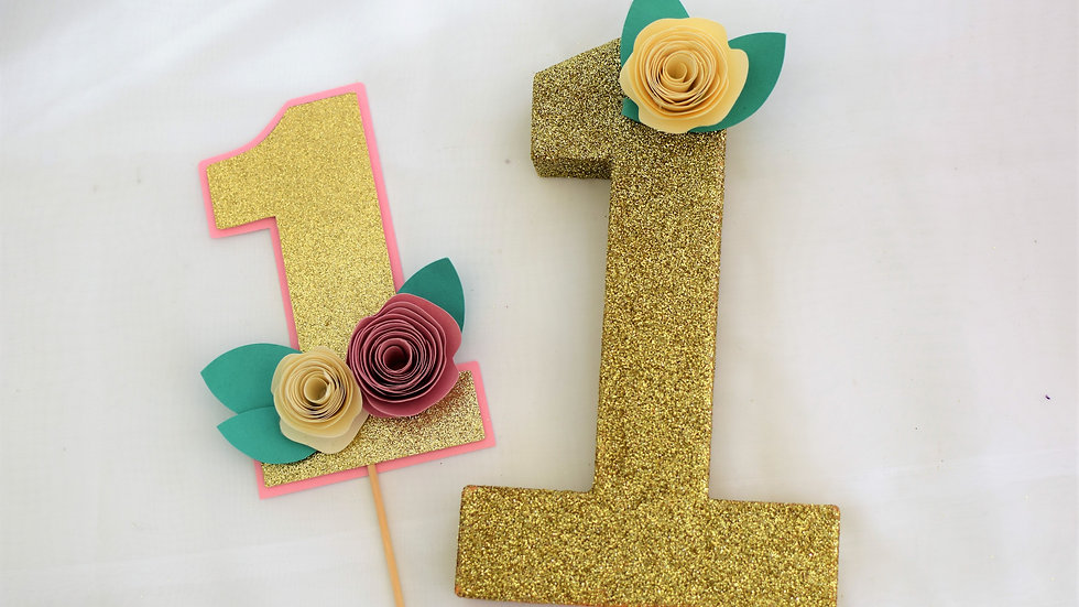 Cake Topper and Freestanding Number 1