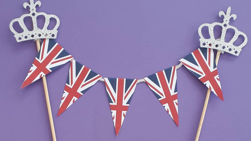 British Flag Cake Toppers