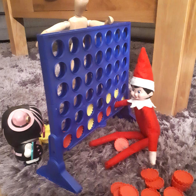 Elf on the Shelf and Connect 4