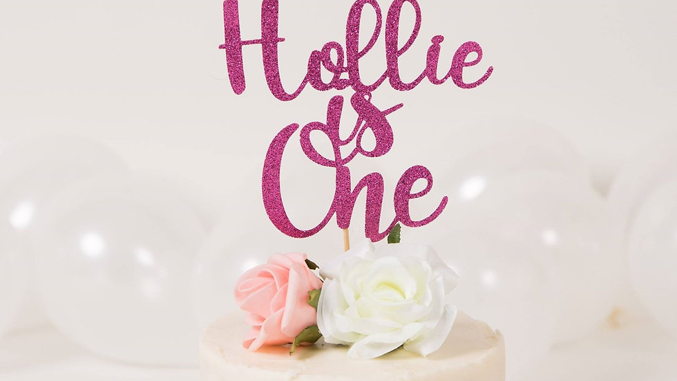 Personalised Cake Topper 1st Birthday