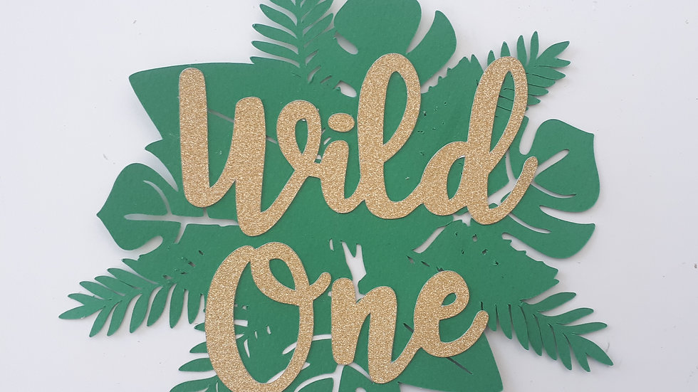Wild One Jungle themed Cake Topper