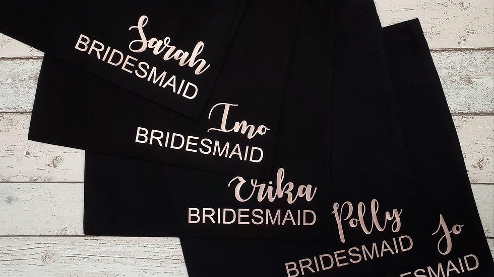 Personalised Black Tote Bag