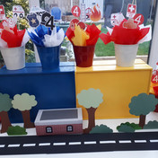 Custom made Party Props for a Transport theme party