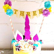 Bunting Cake Toppers