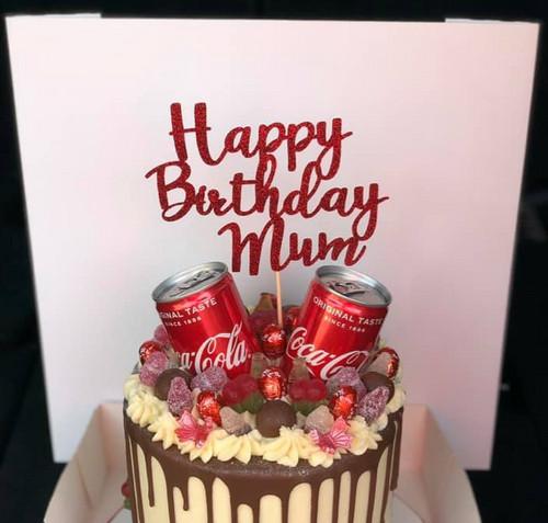 Swell Happy Birthday Mum Cake Topper Melanies Artdesign Funny Birthday Cards Online Necthendildamsfinfo