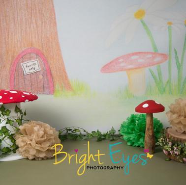 Fairy Garden Backdrop drawing