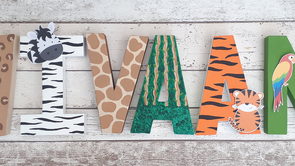 Freestanding Painted Letters/Numbers