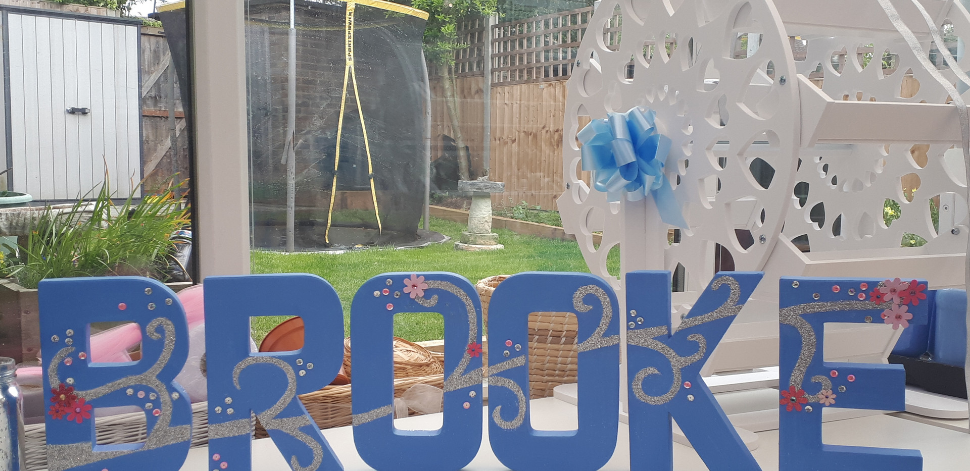 Decorated Freestanding letters