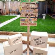 Jungle Sign post and cargo boxes