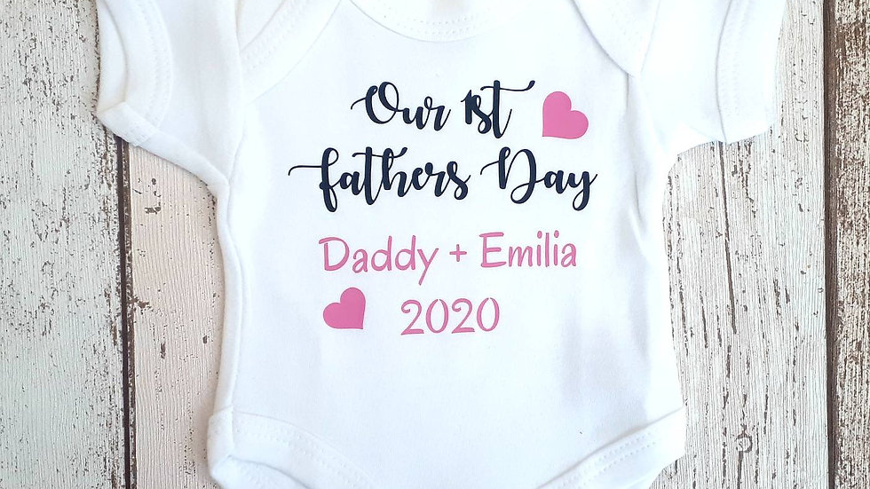 Our 1st Fathers Day Baby vest - Prem sizes
