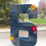 Freestanding Number Denim design