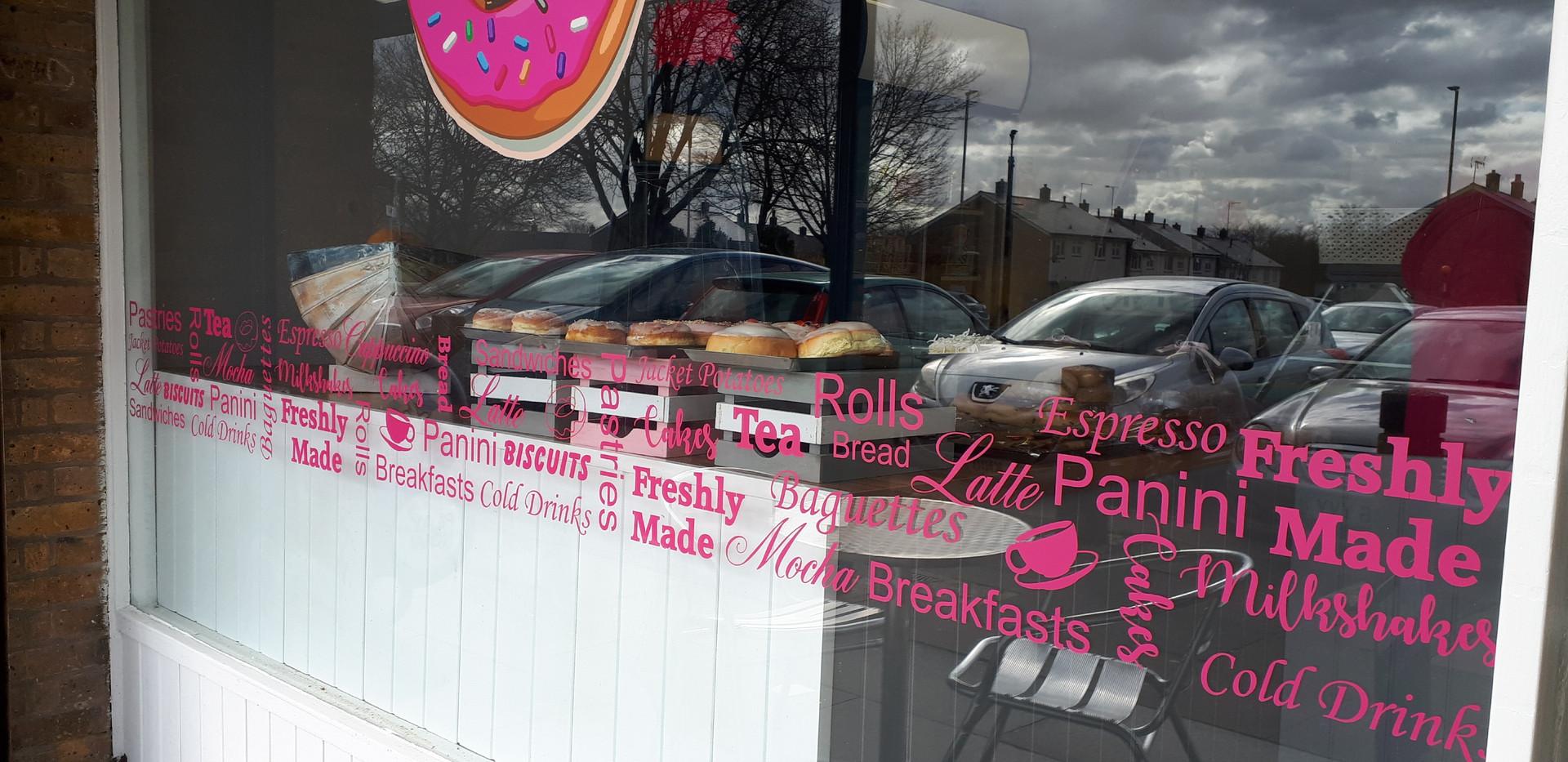 Bakery Sign writing
