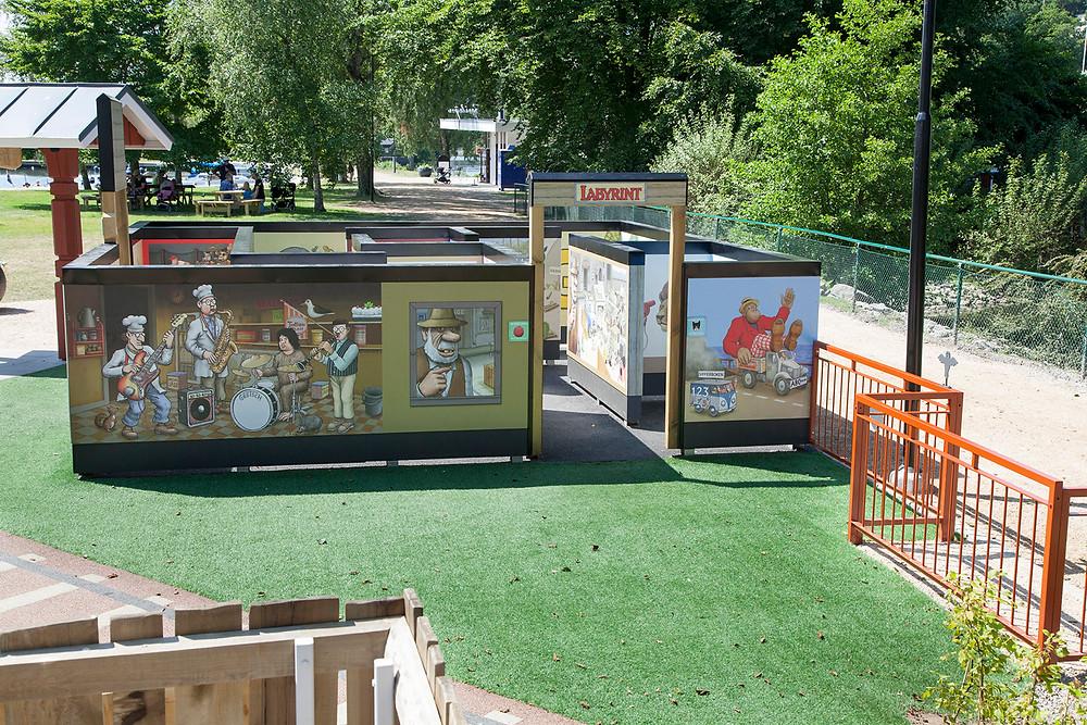 Labyrinten i Skrotnisses lekplats