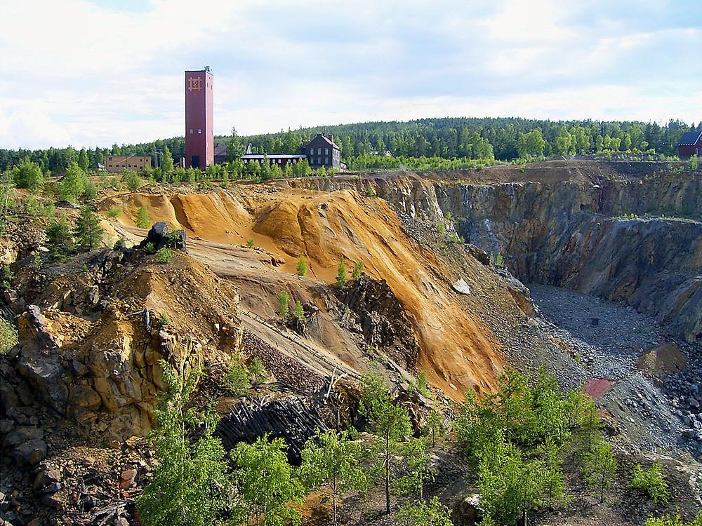 Överblick över Falu gruva