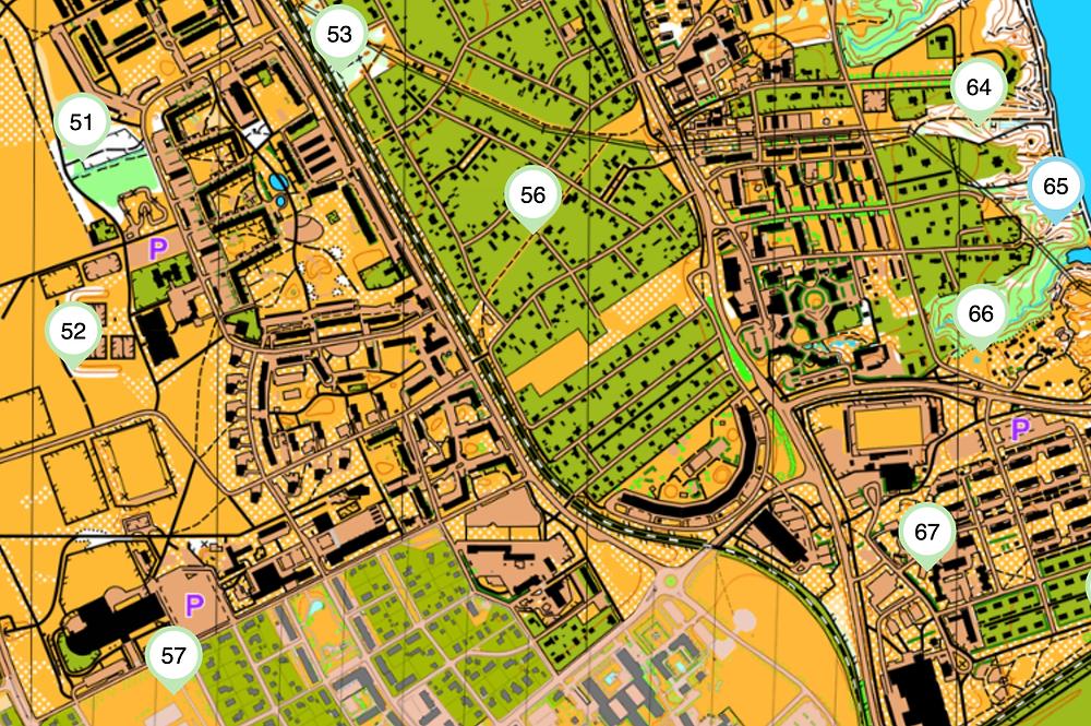 En skärmavbild på Hitta uts karta