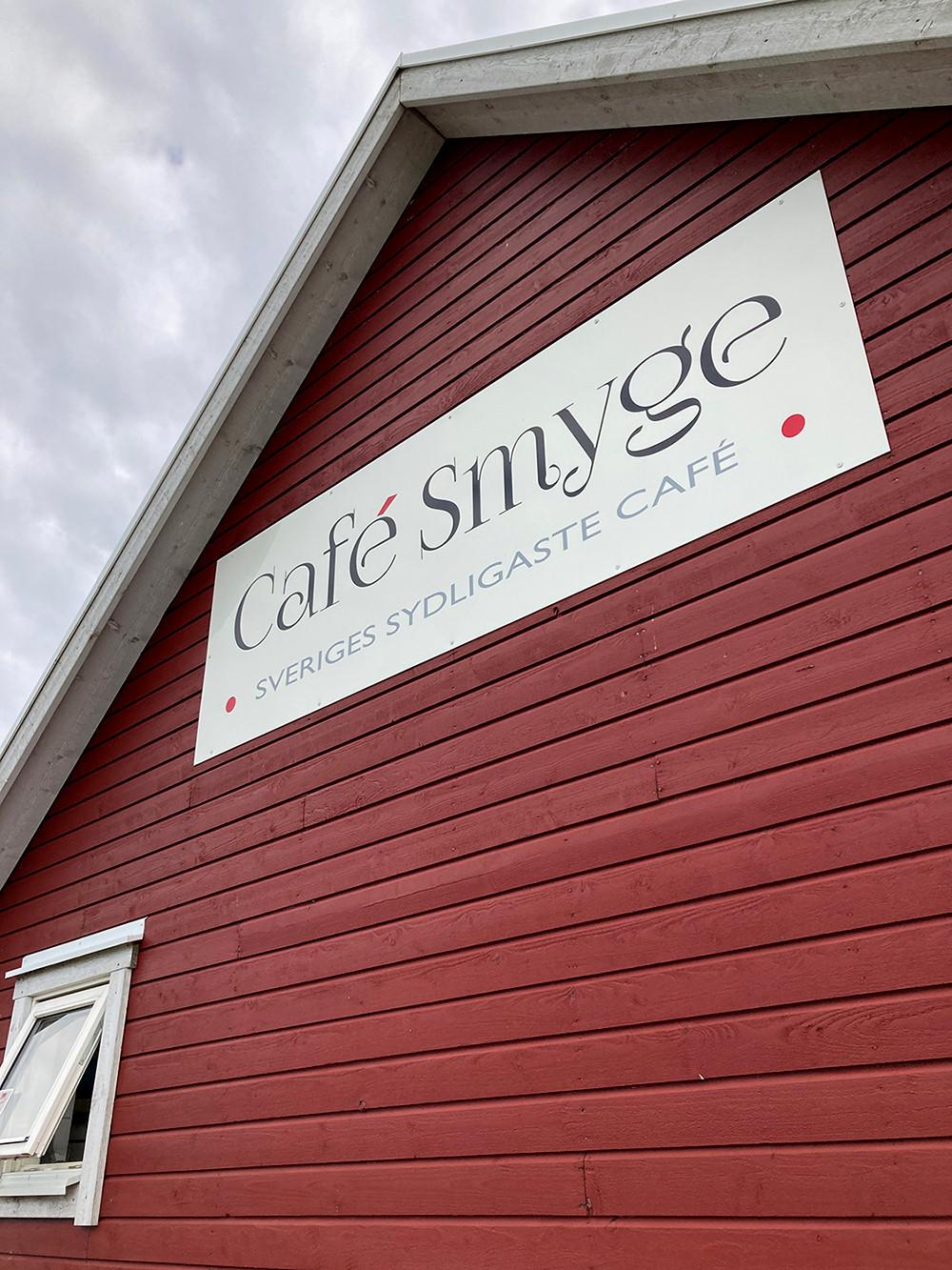 Café Smyges skylt i Smygehuk
