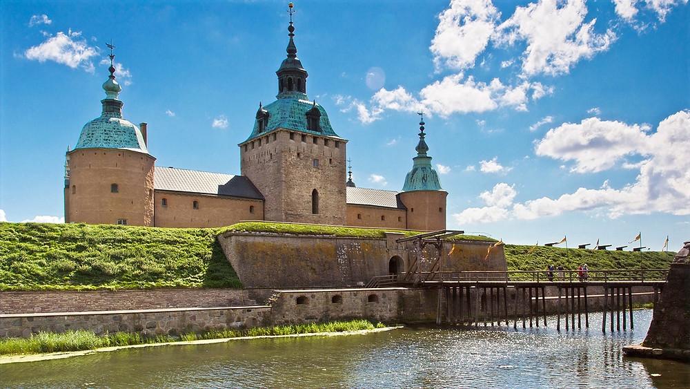 Kalmar slott en solig dag