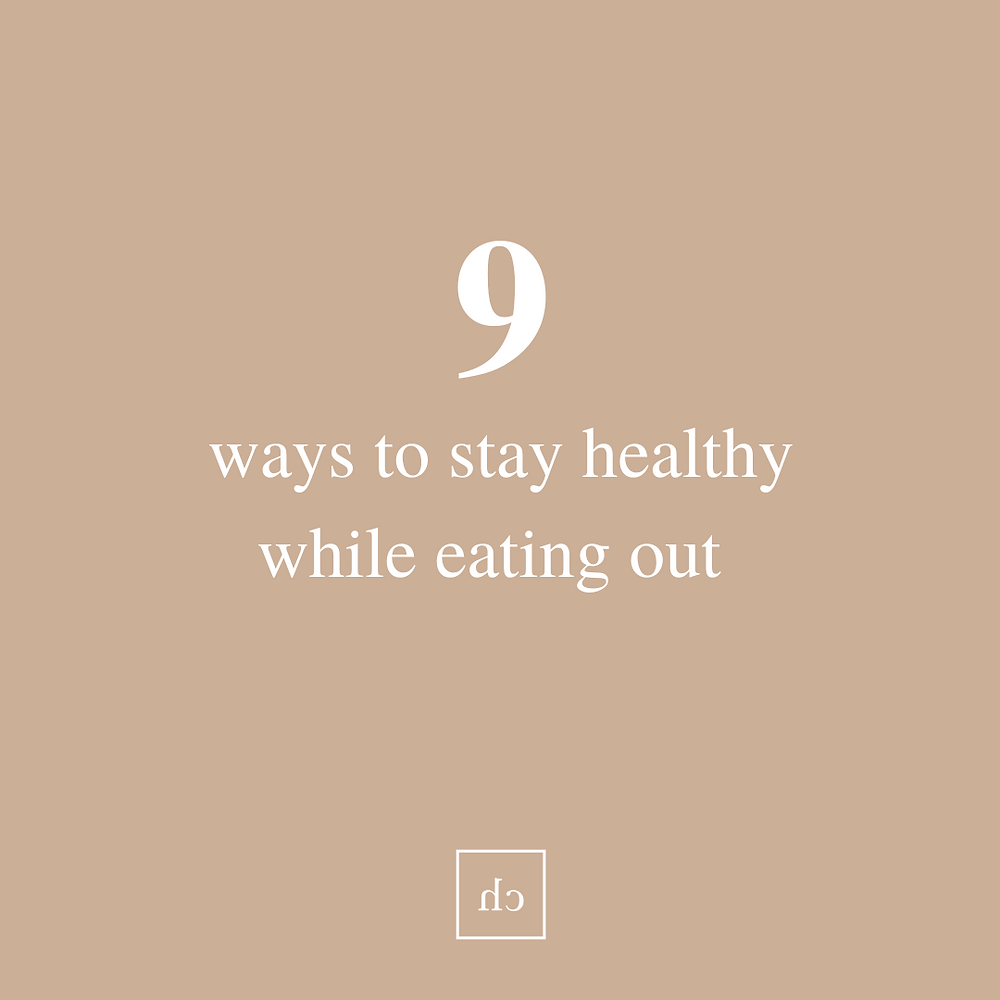 stay healthy while eating out