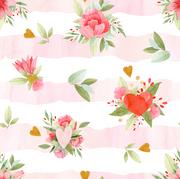 Bouquet rayures coeur