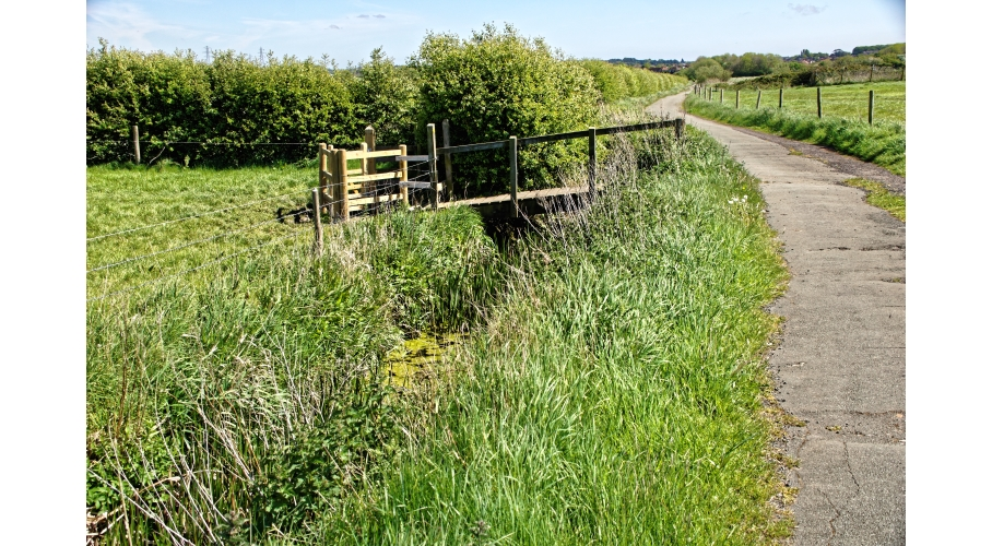 32o New Hall Lane Public footpath bridge over drainage ditch across Resort site