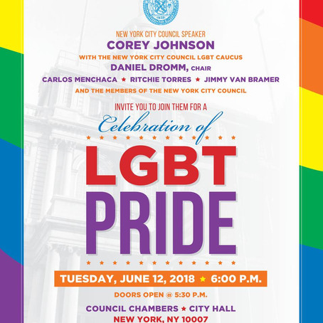 SAVE THE DATE: NYC COUNCIL LGBT PRIDE CELEBRATION