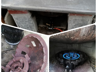 釜のガスコンロ交換