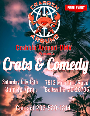 Crabs & Comedy July 18