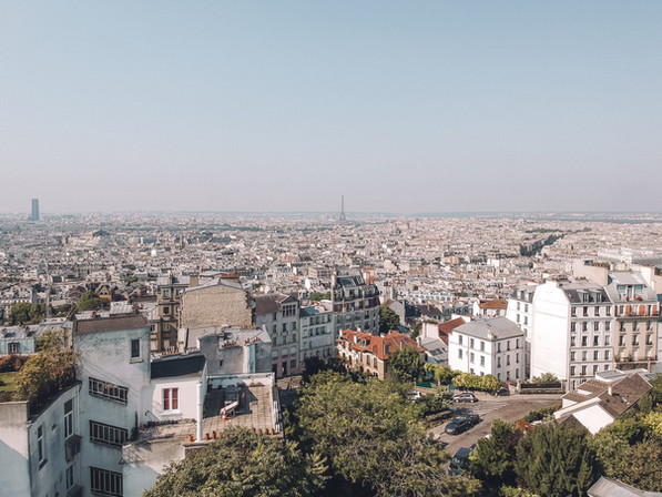 View of Eiffel Tower from Montmartre
