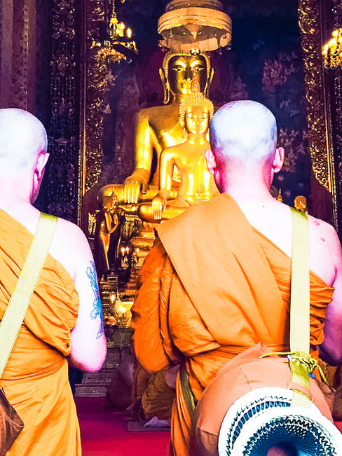 Monks during a private ceremony