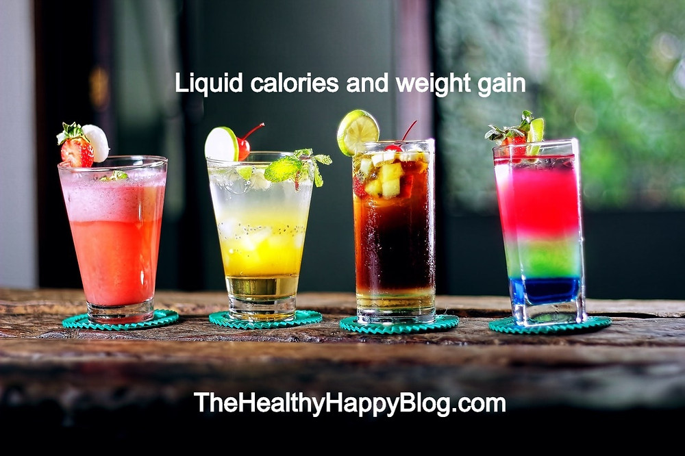 liquid calories from drinks like alcohol cause weight gain