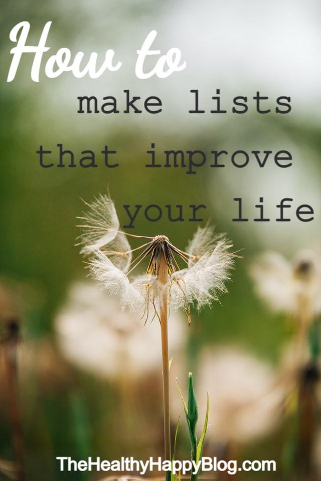 mindful list-making