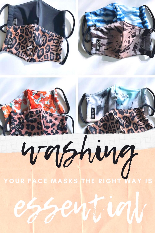 washing face masks