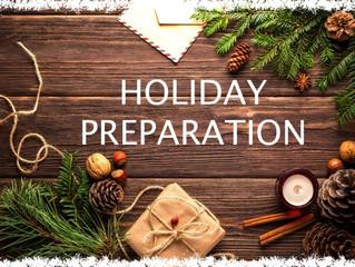 Holiday Preparation