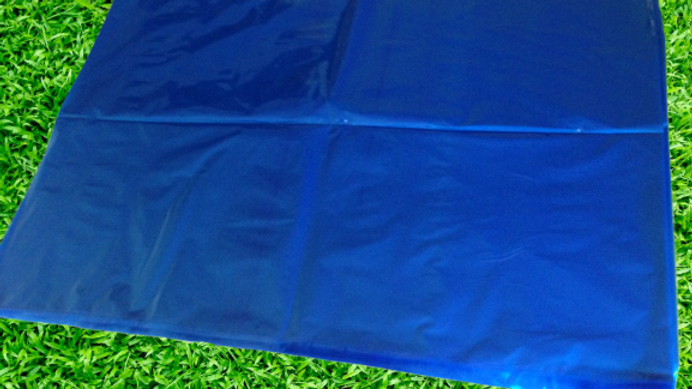 50 990mmx700mm Poly Blue Extra Large Plastic Bags Tinted Bag Covers