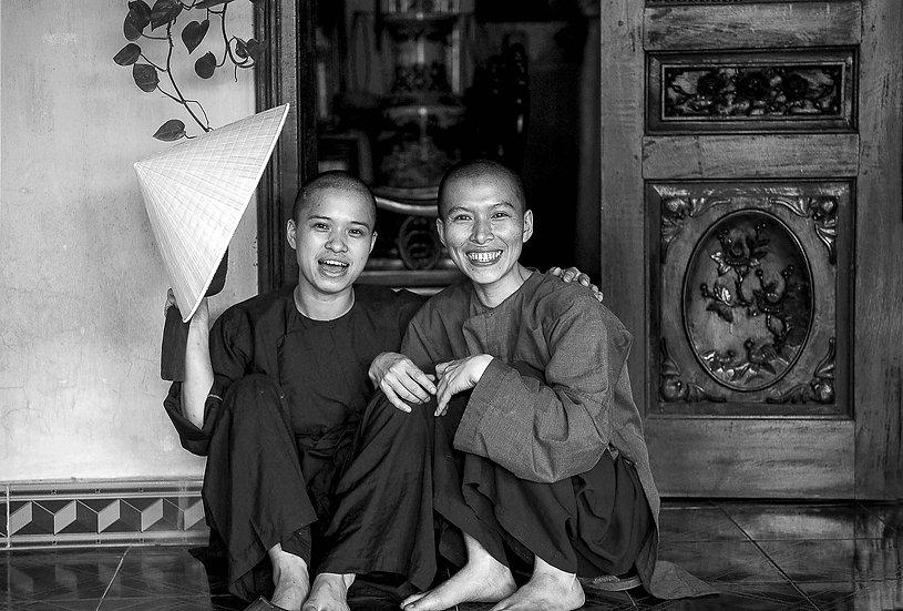 Hervé Négre . Monastère Vietnam