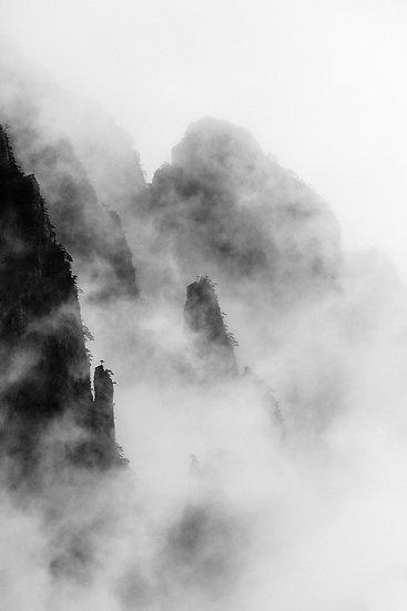 Joseph Aieta . Brumes du Huangshan