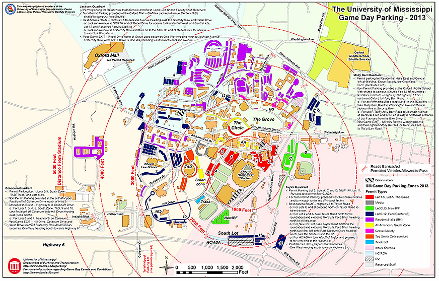 Olemiss New Football Parking And Rv Parking