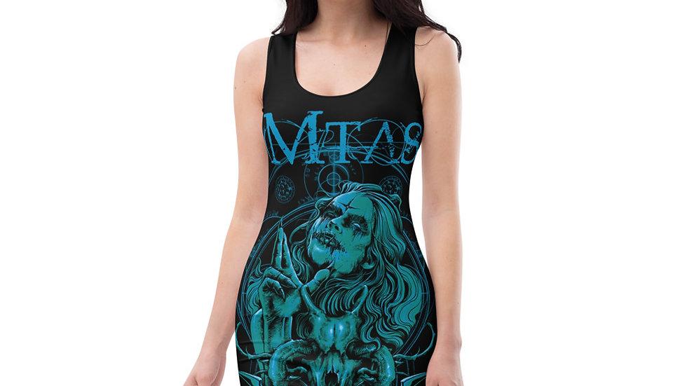 Matriarchs Angels n Demons Teal On Black Sublimation Cut & Sew Dress