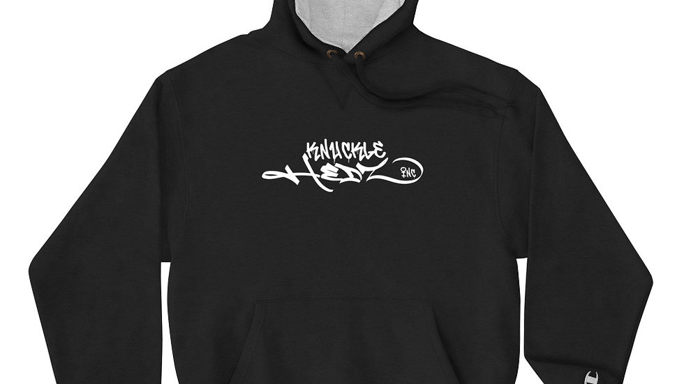 Knucklehedz Inc Skull Jester Laughs Last Champion Hoodie Stretch Logo