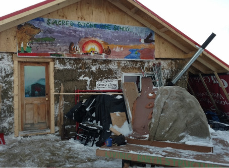 Petaluma Man works on building a Strawbale School at Standing Rock