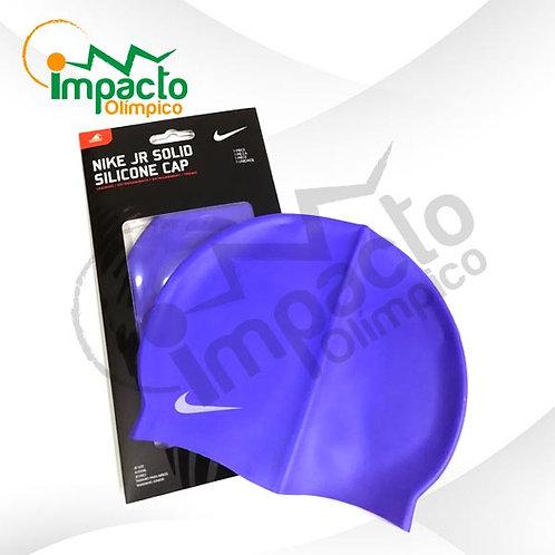 Gorro Nike Silicona Jr. Azul