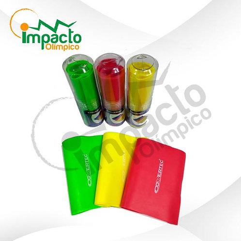 Banda Elástica Covertec 60mm. Unidad en verde,roja o amarilla
