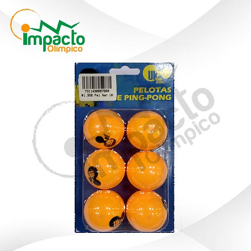 Set Pelotas ping pong UK naranjas