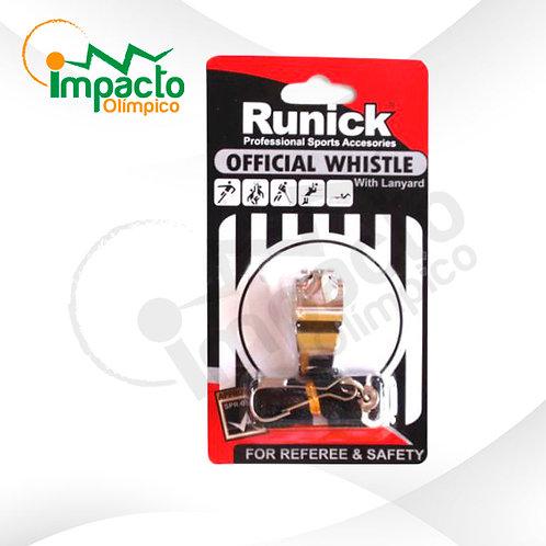 Pito Runick metálico con cordón