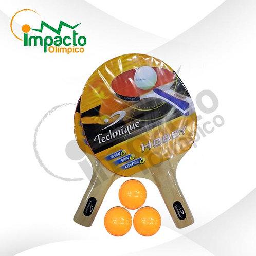 Set Paletas ping pong Impacto