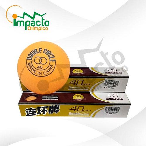 Pelota ping pong Doble Círculo Naranjo 6 unidades