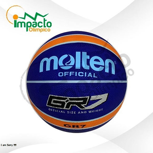 Balón Basquet Molten GR7 Diseño azul