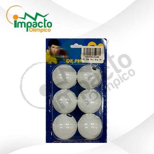 Set Pelotas ping pong UK blancas