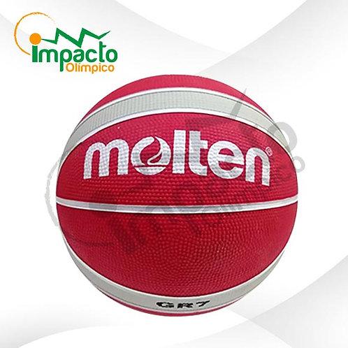 Balón Basquet Molten GR7 Diseño Rojo plata