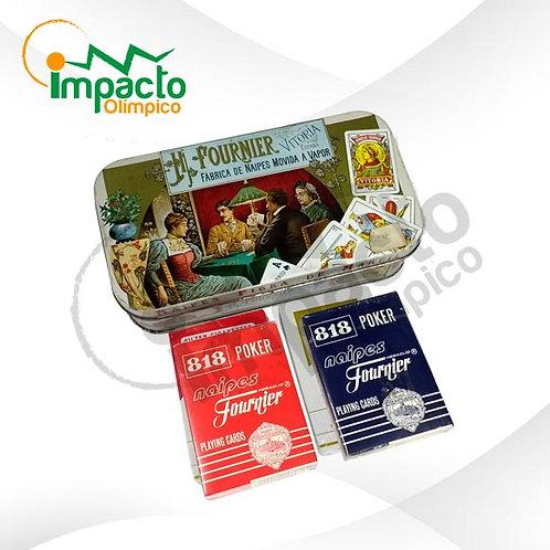 Naipe Inglés Fournier caja metálica